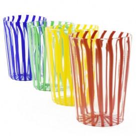Water glass, filigree glass